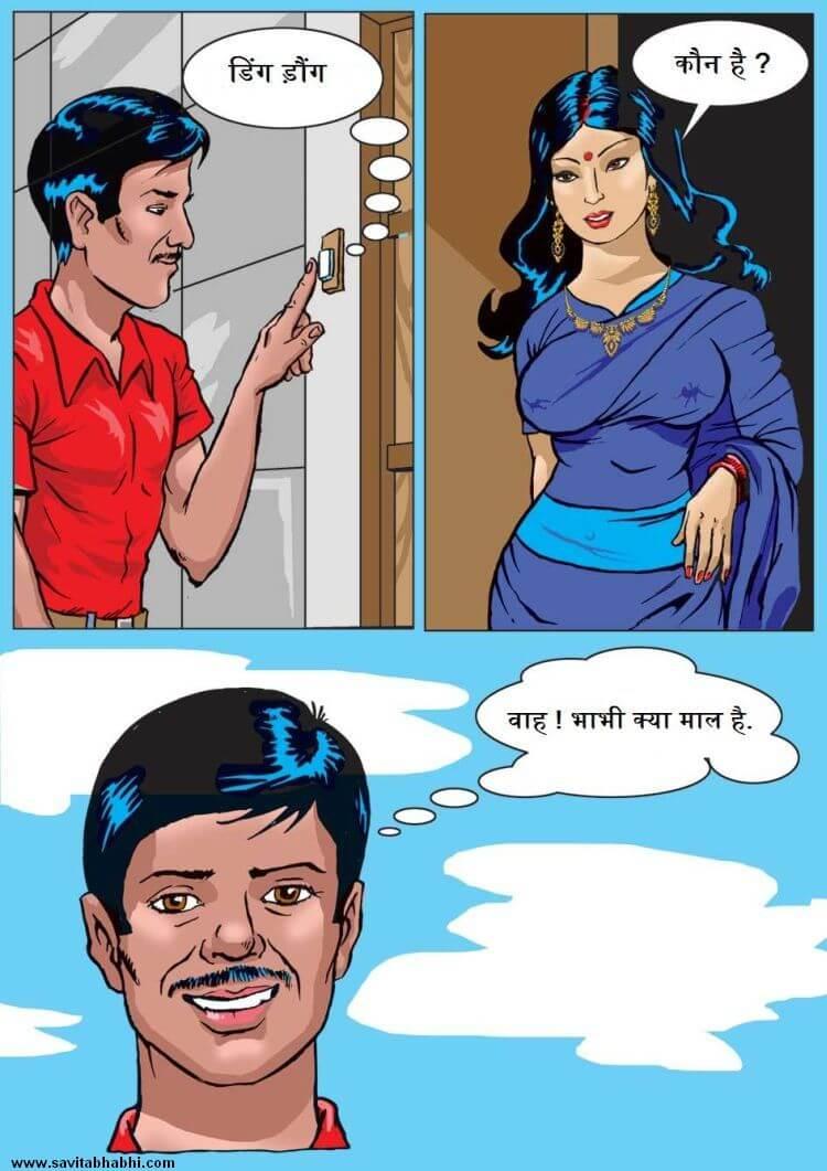 Savita Bhabhi - Episode 1 - ब्रा बेचने आया - Hindi - Panel 002